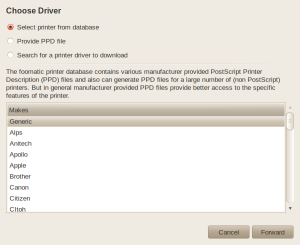 Change Printer Driver - Step 1